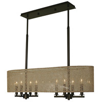 HA Framburg Chloe 8 Light Island Chandelier in Mahogany Bronze 1212MB