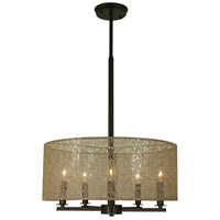 HA Framburg Chloe 5 Light Dining Chandelier in Mahogany Bronze 1217MB