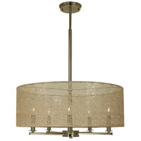 HA Framburg Chloe 5 Light Dining Chandelier in Polished Nickel 1219PN