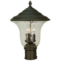 HA Framburg Hartford 3 Light Exterior Post Mount in Iron 1227IRON