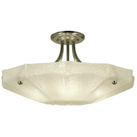 Veronique 4 Light 24 inch Polished Nickel Semi-Flush Mount Ceiling Light