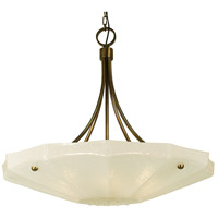 HA Framburg Veronique 6 Light Dining Chandelier in Antique Brass 1245AB