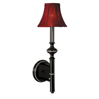 HA Framburg Princessa 1 Light Bath Light in Ebony w/ Red Shade 1291EB/R