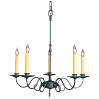 HA Framburg Black Forest 5 Light Chandelier in Charcoal 1315CH