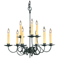 Framburg 1319CH Black Forest 9 Light 26 inch Charcoal Dining Chandelier Ceiling Light