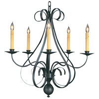 HA Framburg Black Forest 5 Light Chandelier in Charcoal 1345CH