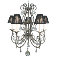 HA Framburg Princessa 5 Light Chandelier in Polished Silver 1355PS photo thumbnail
