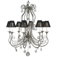 HA Framburg Princessa 8 Light Chandelier in Polished Silver 1358PS