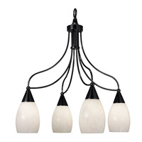 HA Framburg Simplicity 4 Light Chandelier in Ebony 1360EBONY photo thumbnail