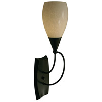 HA Framburg Simplicity 1 Light Bath Light in Ebony 1361EBONY