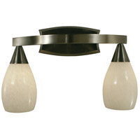HA Framburg Simplicity 2 Light Bath Light in Ebony 1362EBONY