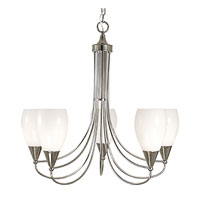 HA Framburg Simplicity 5 Light Chandelier in Polished Silver 1365PS photo thumbnail