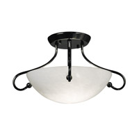HA Framburg Simplicity 2 Light Semi-Flush Mount in Ebony 1367EBONY