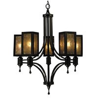 HA Framburg Evolution 5 Light Dining Chandeliers in Ebony 1415EBONY