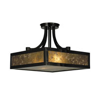 HA Framburg Evolution 2 Light Flush Mounts and Semi-Flush Mounts in Ebony 1417EBONY