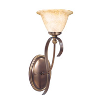 HA Framburg Black Forest 1 Light Bath Light in Harvest Bronze/Amber Marble 1481HB