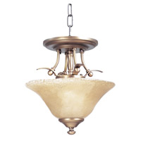 HA Framburg Black Forest 2 Light Semi-Flush Mount in Harvest Bronze/Champagne Piastra 1487HB