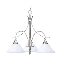 HA Framburg Black Forest 3 Light Dinette Chandelier in Satin Pewter with White Marble Glass Shade 1488SP/WH