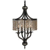 HA Framburg Princessa 4 Light Chandelier in Mahogany Bronze & Teak Crystal 1494MB