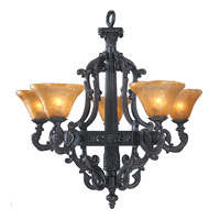 HA Framburg Centennial 5 Light Chandelier in Mahogany Bronze 1505MB