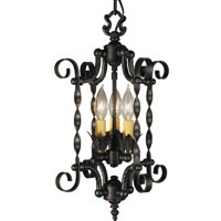 HA Framburg Galicia 3 Light Mini Chandeliers in Charcoal 1573CH