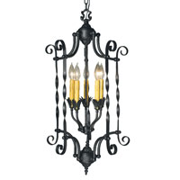 HA Framburg Galicia 5 Light Foyer Chandeliers in Charcoal 1575CH