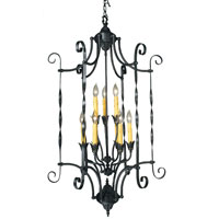 HA Framburg Galicia 9 Light Foyer Chandeliers in Charcoal 1578CH