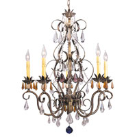 HA Framburg Polonaise 5 Light Dining Chandeliers in Harvest Bronze 1635HB