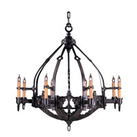 HA Framburg Centennial 8 Light Foyer Chandelier in Mahogany Bronze 1658MB