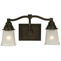 Taylor 2 Light 13 inch Mahogany Bronze Sconce Wall Light
