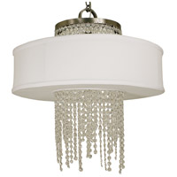 Angelique LED 23 inch Brushed Nickel Dining Chandelier Ceiling Light