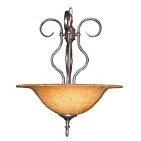 HA Framburg Black Forest 3 Light Pendant in Mahogany Bronze/Cognac Piastra 1750MB