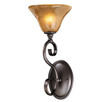 HA Framburg Black Forest 1 Light Bath Light in Mahogany Bronze/Cognac Piastra 1751MB