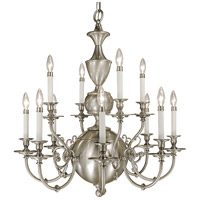 Kensington 12 Light 30 inch Brushed Nickel Dining Chandelier Ceiling Light
