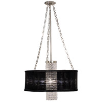 Angelique 1 Light 24 inch Polished Silver Dining Chandelier Ceiling Light in Without Crystal, Eggplant