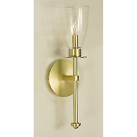HA Framburg Moderne 1 Light Bath Light in Satin Brass 1981SB