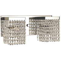 Gemini 2 Light 15 inch Polished Silver Sconce Wall Light in Clear Crystal