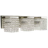 Gemini 3 Light 22 inch Polished Silver/Clear Crystal Bath and Sconce Wall Light