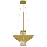 HA Framburg Gemini 1 Light Dining Chandeliers in Satin Brass/Polished Brass/C 2003SB/PB/C