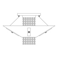 HA Framburg Gemini 1 Light Flush Mounts and Semi-Flush Mounts in Polished Silver/Clear Crystal 2004PS/C