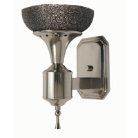 HA Framburg Hyperion 1 Light Bath and Sconces in Platinum/Black 2031PL/B