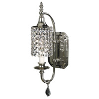 Princessa 1 Light 7 inch Polished Silver Bath Light Wall Light