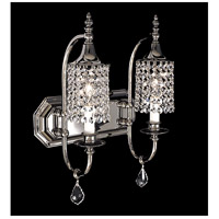 Princessa 2 Light 13 inch Polished Silver Bath Light Wall Light