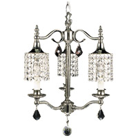HA Framburg Princessa 3 Light Mini Chandelier in Polished Silver 2043PS