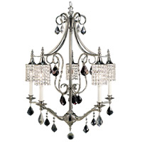 Princessa 5 Light 27 inch Polished Silver Chandelier Ceiling Light