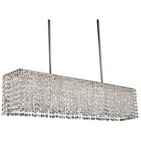 Princessa 4 Light 33 inch Polished Silver Island Chandelier Ceiling Light