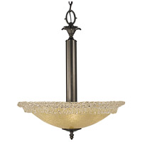 HA Framburg Brocatto 3 Light Dining Chandeliers in Ebony 2055EBONY