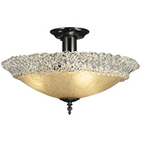 Framburg 2057MB Brocatto 3 Light 19 inch Mahogany Bronze Semi-Flush Mount Ceiling Light
