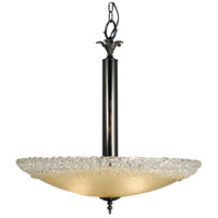 HA Framburg Brocatto 3 Light Chandelier in Ebony 2058EBONY