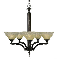 HA Framburg Brocatto 5 Light Dining Chandeliers in Ebony 2060EBONY